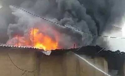 احسن آباد میں فیکٹری میں آتشزدگی