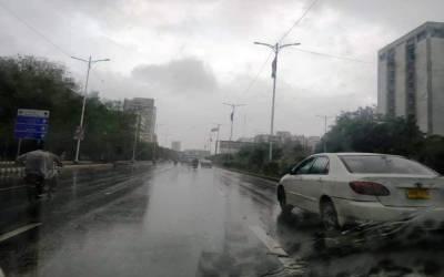 آئندہ 24 گھنٹوں کے دوران کراچی میں ہلکی بارش اور بوندا باندی کا امکان