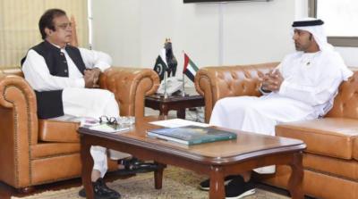 متحدہ عرب امارات (یو اے ای) کے سفیر حماد عبید ابراہیم سلیم الزابی کی وفاقی وزیر سائنس و ٹیکنالوجی سینیٹر شبلی فراز سے ملاقات