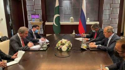 وزیرخارجہ شاہ محمود قریشی کی روسی ہم منصب سے ملاقات، علاقائی صورتحال پر تبادلہ خیال