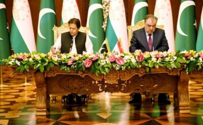 پاکستان اور تاجکستان کا علاقائی تعاون سمیت توانائی، ٹرانسپورٹ اور گوادر منصوبوں میں تعاون بڑھانے پر اتفاق: مشترکہ اعلامیہ جاری