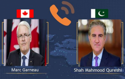 وزیرخارجہ کا کینیڈا کے وزیر خارجہ سے ٹیلی فون پر گفتگو , افغانستان کی صورتحال کے حوالے سے انسانی ہمدردی کی کوششوں کے بارے میں آگاہ کیا