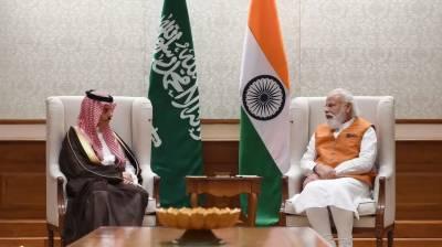 سعودی وزیرخارجہ کا بھارتی وزیراعظم سے نئی دہلی میں ملاقات