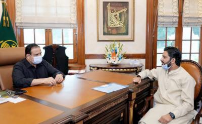 وزیراعلیٰ پنجاب سردار عثمان بزدارسے ملتان سے رکن صوبائی اسمبلی سلمان نعیم کی ملاقات, حلقے کے مسائل سے آگاہ کیا