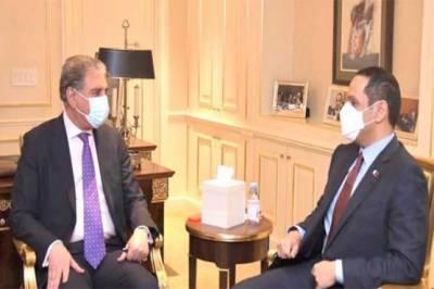 شاہ محمود سے قطر کے نائب وزیراعظم کی ملاقات، باہمی دلچسپی کے امور پر بات چیت