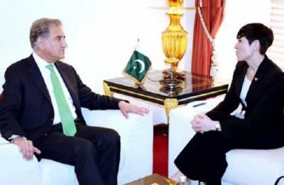 وزیر خارجہ کی ناروے کی ہم منصب سے ملاقات،علاقائی اور عالمی اہمیت کے امور پر تبادلہ خیال