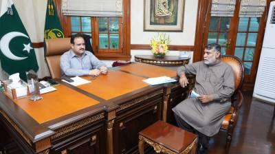 وزیراعلیٰ پنجاب سردار عثمان بزدار سے لیہ سے رکن صوبائی اسمبلی لالہ محمد طاہر رندھاوا کی ملاقات