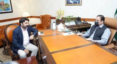 وزیر اعلی پنجاب سردار عثمان بزدار سے صوبائی وزیر ہائر ایجوکیشن راجہ یاسر ہمایوں کی ملاقات
