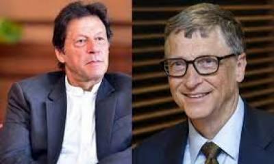 وزیراعظم عمران خان اور بل گیٹس کا ٹیلی فونک رابطہ