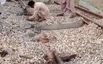 سکھر:ریلوے ٹریک پر کریکر دھماکہ،پٹزی کو نقصان ,ٹریک3گھنٹے بعد بحال