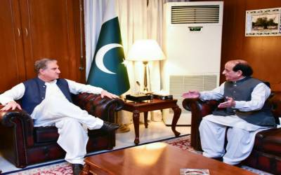 پاکستانی سفیر اظہر طارق خان کی وزیر خارجہ شاہ محمود قریشی سے ملاقات