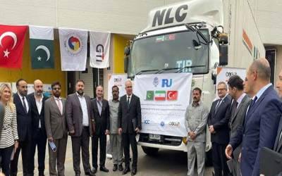 پاکستان سے اشیا لے جانے والا پہلا این ایل سی کا ٹرک ترکی پہنچ گیا ہے۔ عبدالرزاق داود