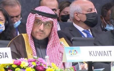 فلسطین پر اسرائیل کا ناجائز تسلط ختم کر ایاجائے ۔وزیر خارجہ کویت