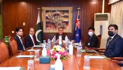 نیوزی لینڈ کی وزیر خارجہ محترمہ ننایا مہوٹا کا وزیر خارجہ مخدوم شاہ محمود قریشی کے ساتھ بذریعہ ویڈیو لنک رابطہ
