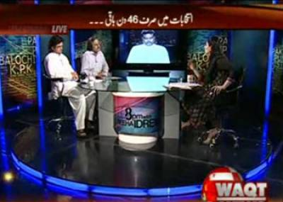 8pm with Fareeha Idrees (PML N and PTI Competition and General Pervaiz Musharraf) 25 March 2013