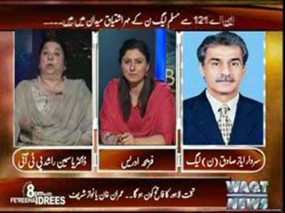 8pm with Fareeha Idrees (Lahore Election Electorates 2013) 1st May 2013